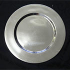 Silver Stainless Charger plate