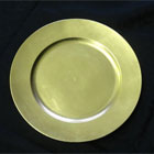 Gold Plastic Charger plate